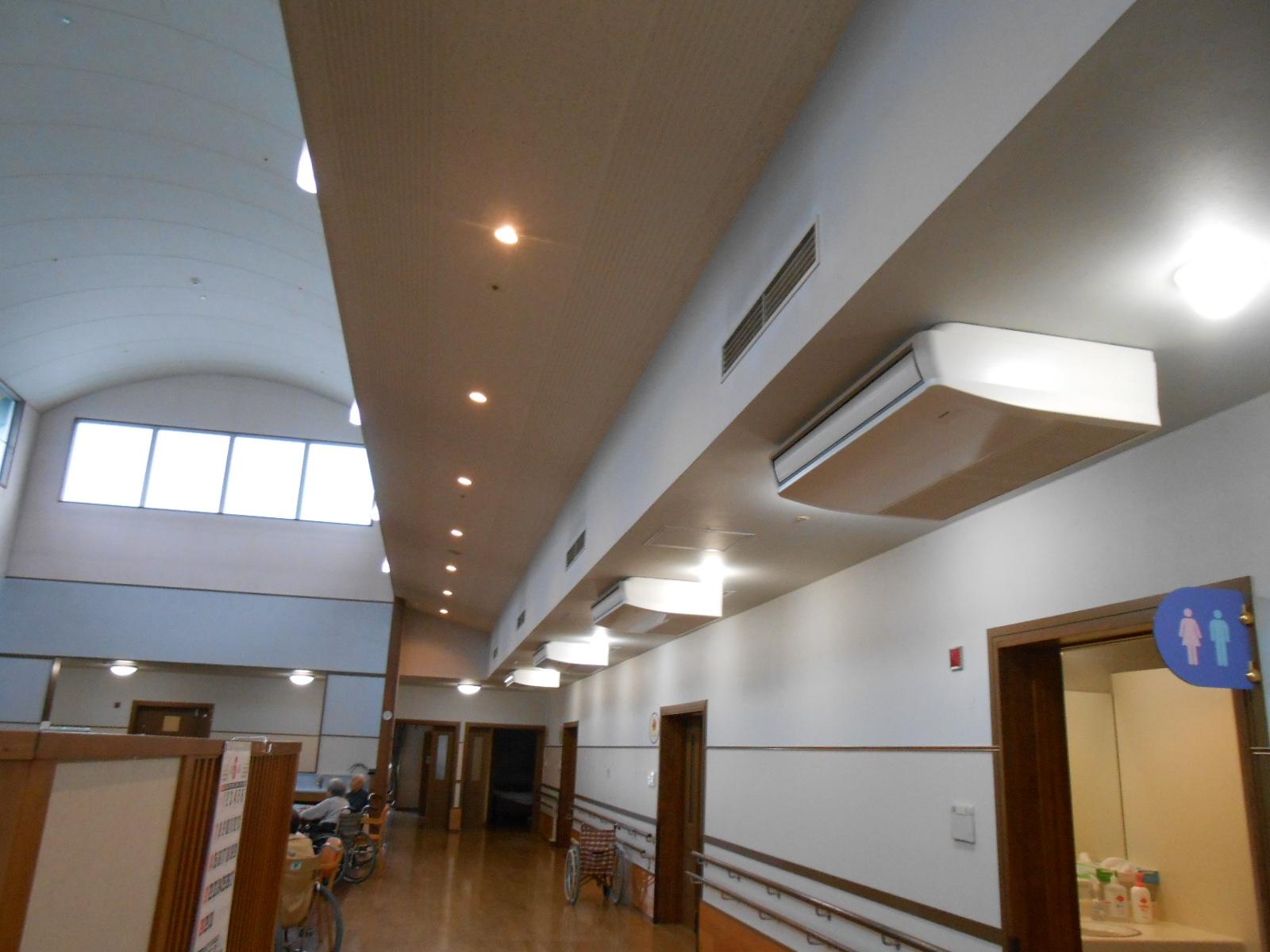 MMFの電気工事例、空調、空調設備工事